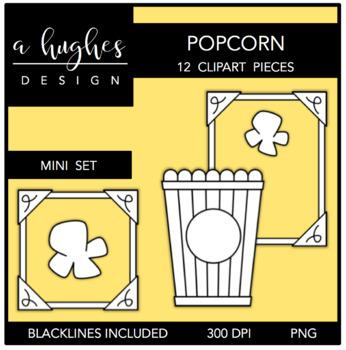 Popcorn Mini Clipart Bundle {A Hughes Design}