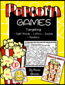 Popcorn Monster and Other Games for Literacy and Math Centers