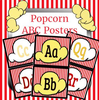 Popcorn Movie Alphabet Posters