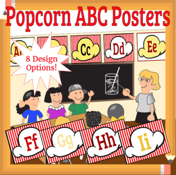 Popcorn Movie Large Alphabet Posters