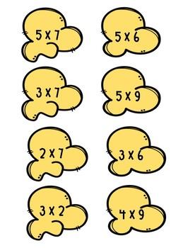 Popcorn Multiplication Facts Center