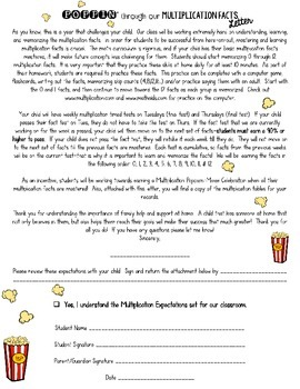 Popcorn Multiplication Unit: Incentive for Learning Multiplication Facts 0-12