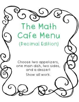 Decimal Practice- Math Cafe