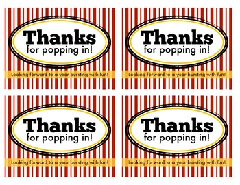 Popcorn Open House Tags