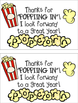 Popcorn Parent Gift (Open House)