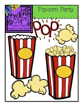 Popcorn Party {Creative Clips Digital Clipart}