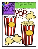 Popcorn Party {Creative Clips Digital Clipart}