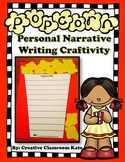Popcorn Personal Narrative Writing Craftivity