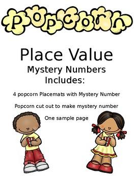 Popcorn Place Value Mystery Number SOL 3.1
