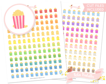 picture about Popcorn Printable named Popcorn Printable Planner Stickers
