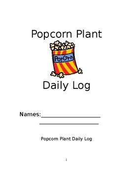 Popcorn Plant Daily Log