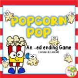 Popcorn Pop! An -ed Ending Word Game