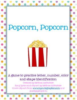 Popcorn, Popcorn Letter/Number/Shape/Color game
