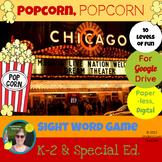 Popcorn Popcorn Sight Word Game - Paperless, Digital