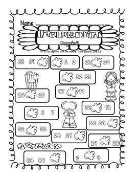 Popcorn Poppin!  Number Order Pack 1.NBT.1