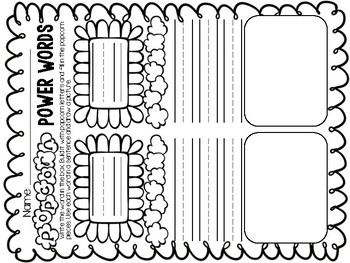 Popcorn Power Words - SIGHT WORD BUILDING TASK CARD GAME