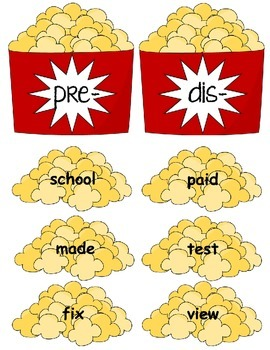 Popcorn Prefixes Pre- & Dis-