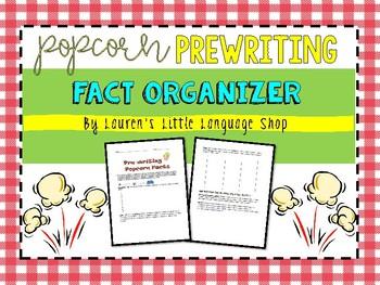 Popcorn Prewriting Fact Finder