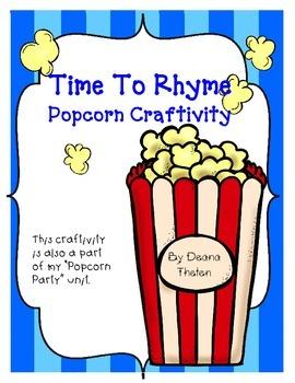 Popcorn  Rhyming Fun Craftivity