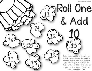 Popcorn Roll & Add 10 Bump Game