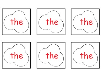 Popcorn Sight Words on a Ring