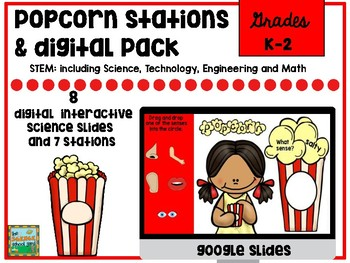 Popcorn Science and STEM Pack with Digital Slides