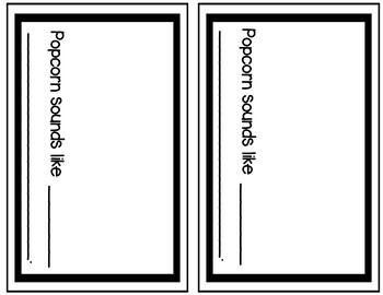 Popcorn Senses Student Booklet {FREE}