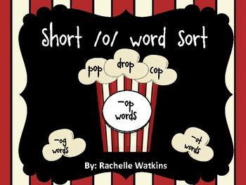 Popcorn Short /o/ Word Sort for Centers