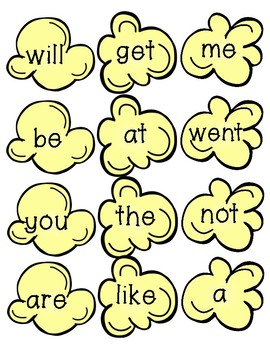 Popcorn Sight Word Activity