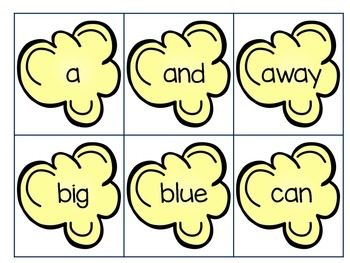 Popcorn Sight Word Game FREE!!