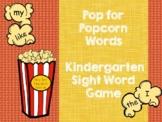 Popcorn Sight Word Game - Kindergarten (EDITABLE!!)