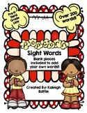 Popcorn Sight Word Game (PreK-3rd Grade Lists!)