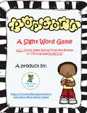 Popcorn Sight Word Game - Primer Dolch List 1