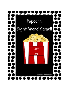 Popcorn Sight Word Game - Set 1