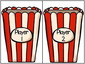 Popcorn Sight Word Match Game