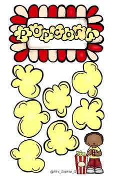 Popcorn Sight Word and Number Revision