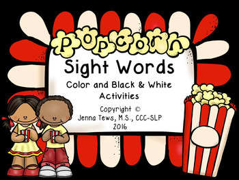 Popcorn Sight Words