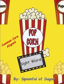 "Popcorn Sight Words ( A Popcorn theme ""write the room"" sight words unit)"