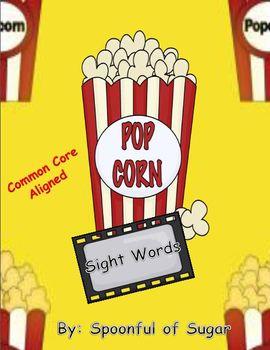 "Popcorn Sight Words ( A Popcorn theme ""write the room"" sig"