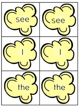 Popcorn Sight Words (Beginning SIPPS words 1-10)