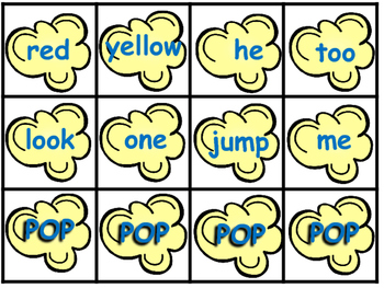 Popcorn Sight Words Dolch Word Lists 1-11