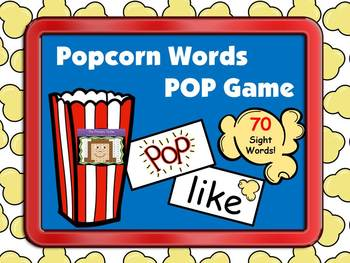 Popcorn Sight Words POP Game