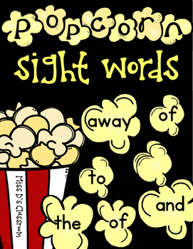 Popcorn Sight Words: Primer Edition!