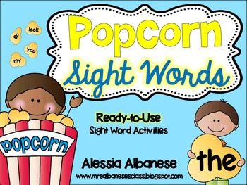 Popcorn Sight Words - Ready to Use Activities