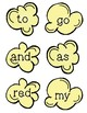 Popcorn Sight Words Sample FREEBIE!