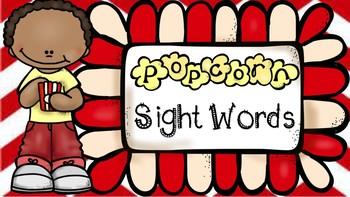 Popcorn Sight Words - VIPKID Props - Virtual Teaching