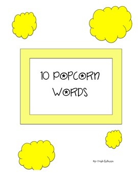 Popcorn Sight Words (Zeno Word List)