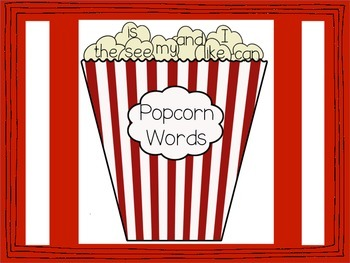 Popcorn Sight Words for Miriam and Everyone Else