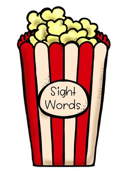 Popcorn Sight Words for Word Wall