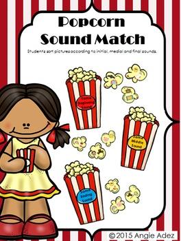Popcorn Sort- A Phonemic Awareness Activity for Matching Phonemes